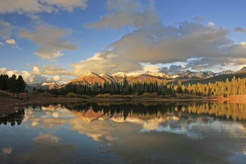 Molas lake and Needle mountains, Weminuche wilderness, Colorado stock photo