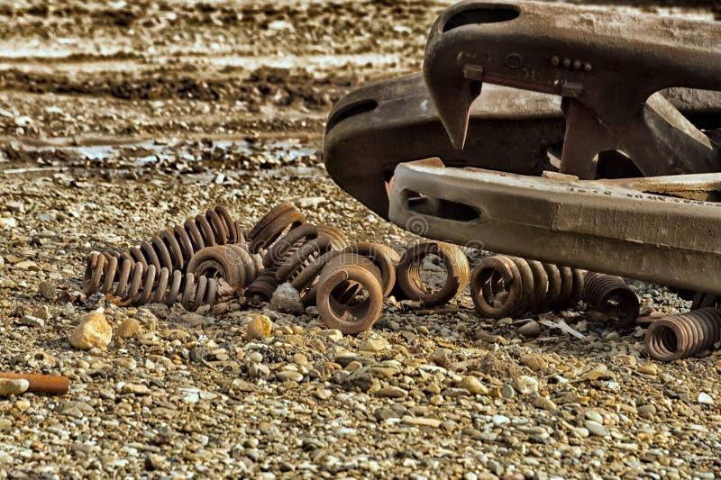 Molas oxidadas do ferro foto de stock