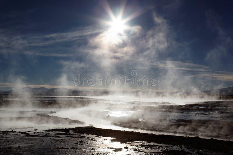 Molas quentes, Bolívia fotografia de stock