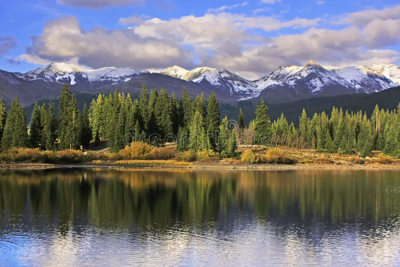 Molas See und Nadelberge, Weminuche-Wildnis, Colorado stockbild