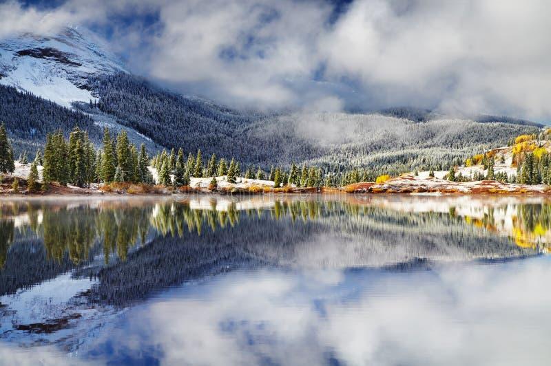 Molas sjö, San Juan Mountains, Colorado, USA arkivbilder