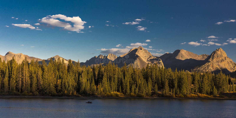 Molas sjön, söder av Silverton, Colorado, rotar 550 arkivbilder