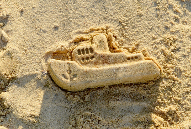 Download Mold Boat In The Sand. Kids Play. Stock Photo - Image: 36923496