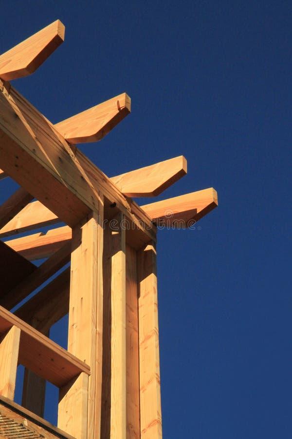 Moldação de madeira da construção nova   fotos de stock royalty free