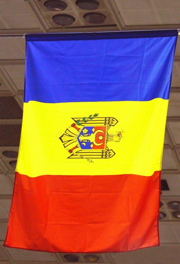 Moldau-Flagge stockfoto