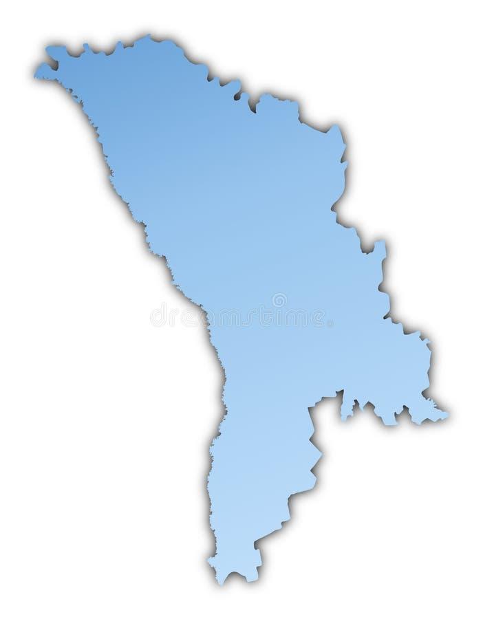 Moldau-Karte vektor abbildung
