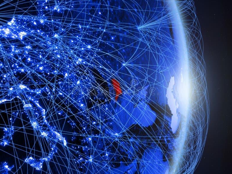 Moldau sur la terre numérique bleue bleue image libre de droits