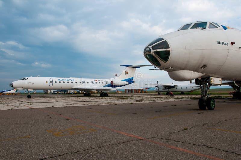 Moldavia Rządowy Tupolev Tu-134A obrazy stock