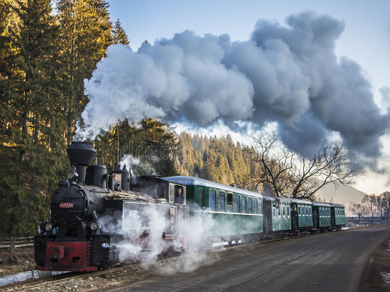 Moldavian старый поезд стоковое фото