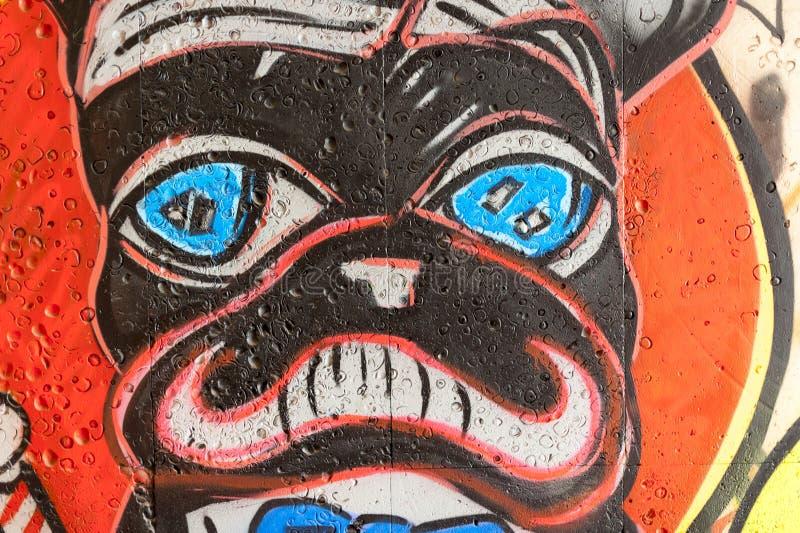Moldavian grafitti arkivbild