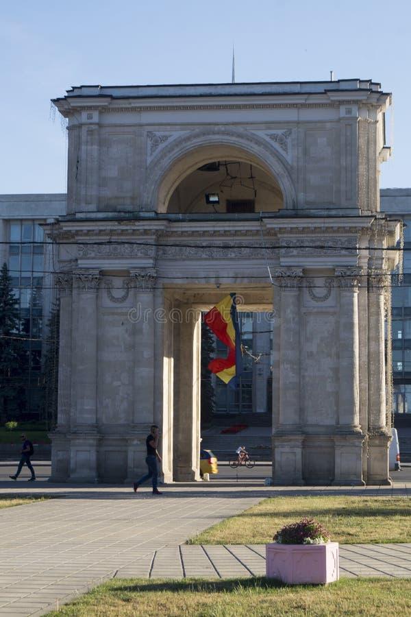 Moldavien chisinau båge royaltyfri bild