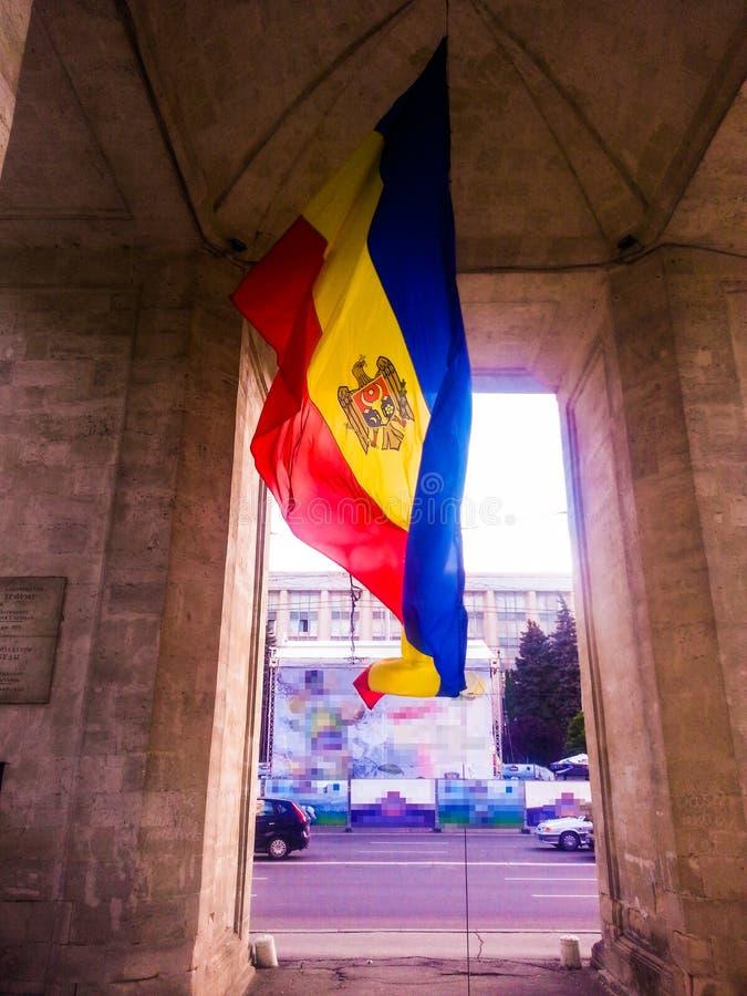 Moldavien flagga arkivbild