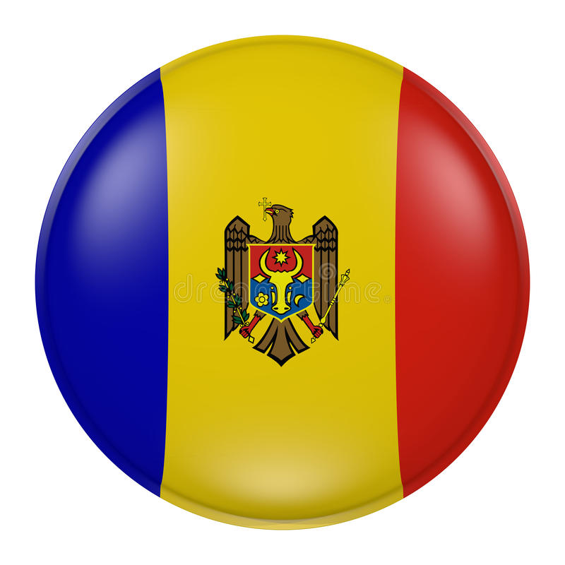 Moldavien knapp royaltyfri illustrationer
