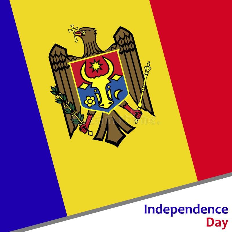 Moldavien självständighetsdagen stock illustrationer