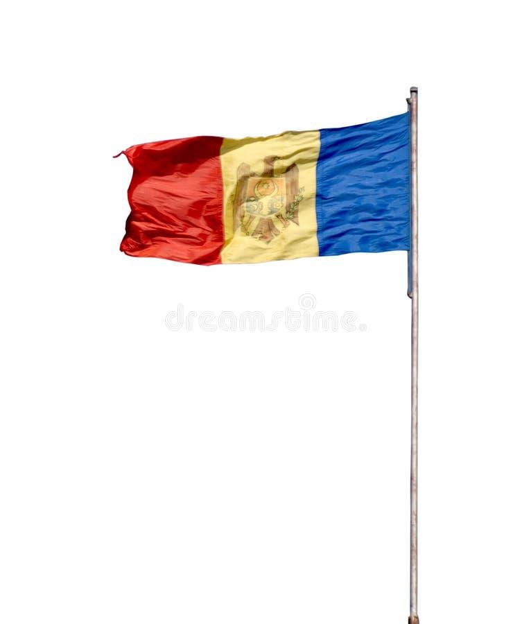 Moldavische vlag stock illustratie