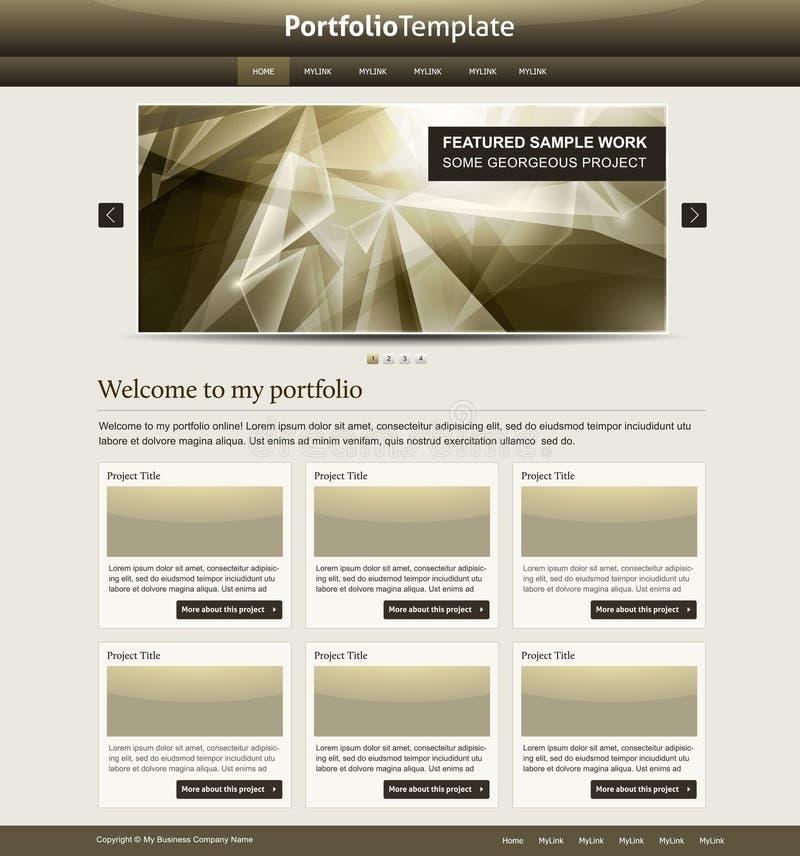 Molde à moda do Web site ilustração royalty free