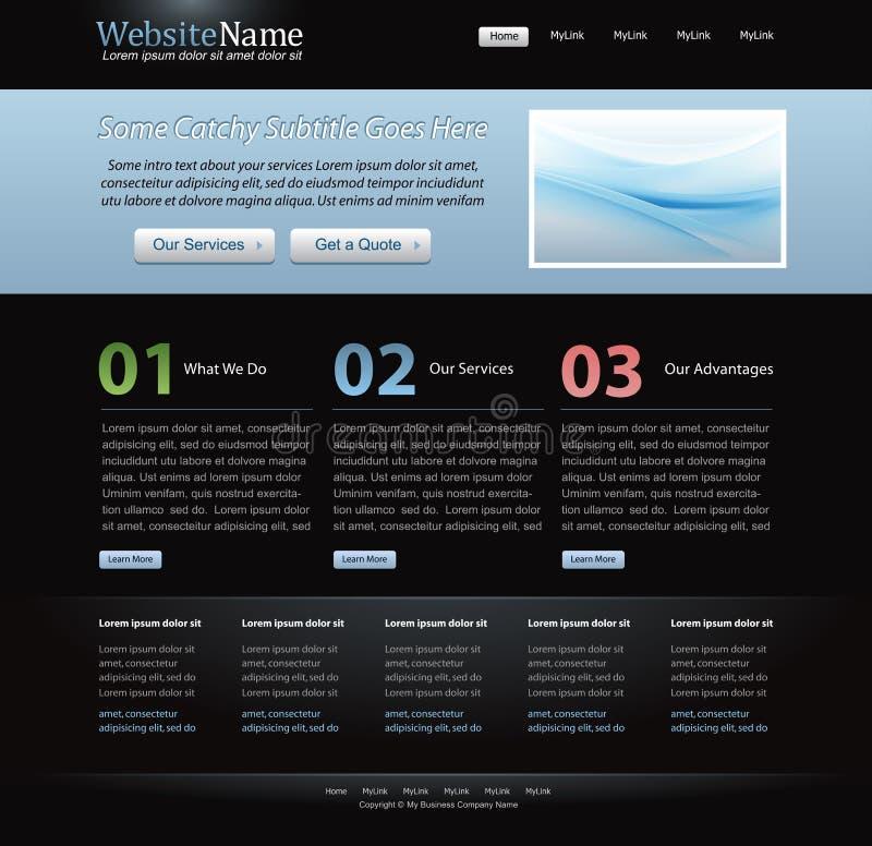 Molde à moda escuro do Web site para desenhadores ilustração do vetor