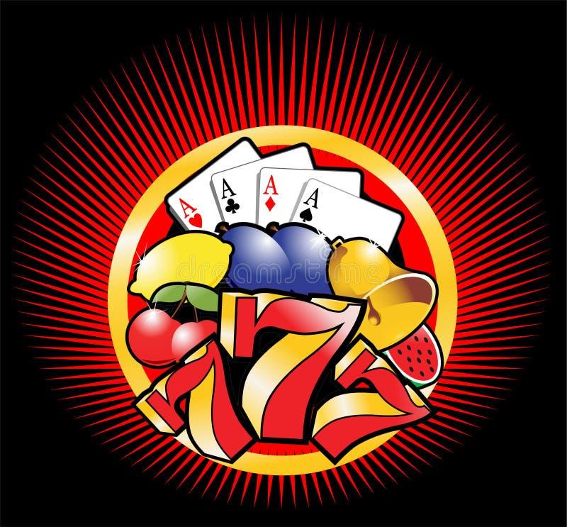 Molde 3 do casino ilustração stock