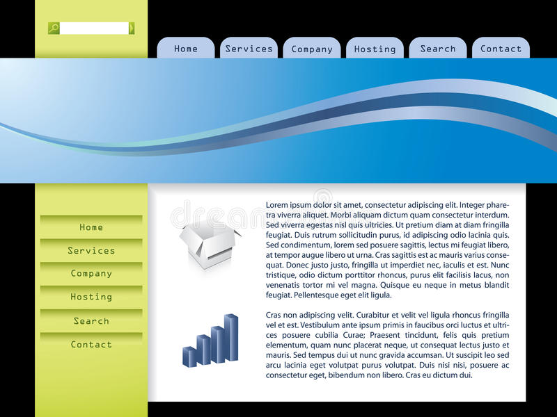Molde 7 do Web ilustração do vetor