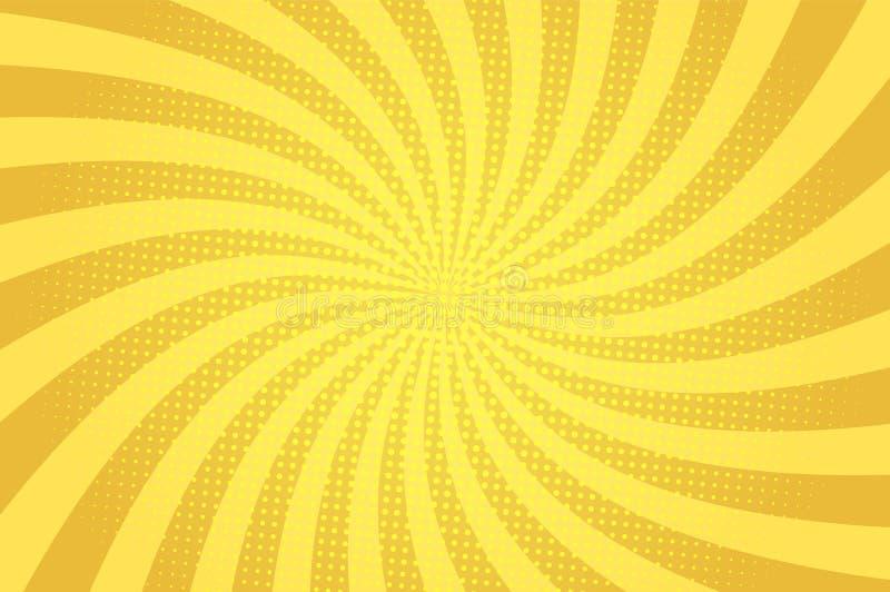 Molde abstrato cômico da luz amarela ilustração do vetor