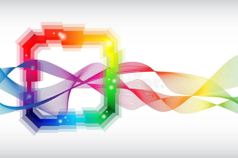 Molde abstrato colorido arco-íris ilustração do vetor
