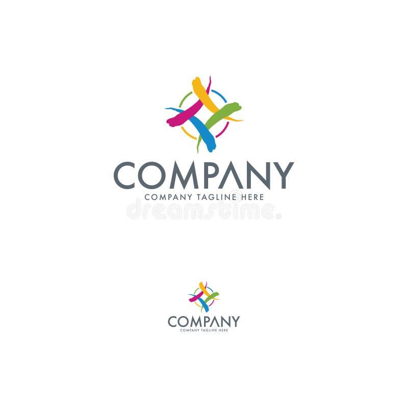 Molde abstrato colorido do projeto do logotipo ilustração stock