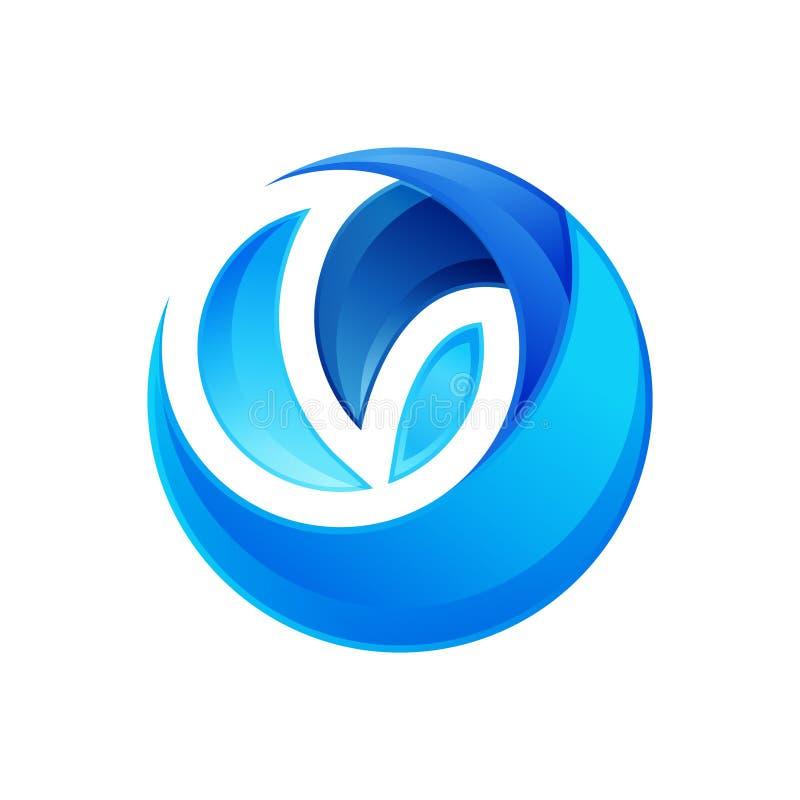 molde abstrato da ilustração do vetor do logotipo do círculo 3D ilustração do vetor
