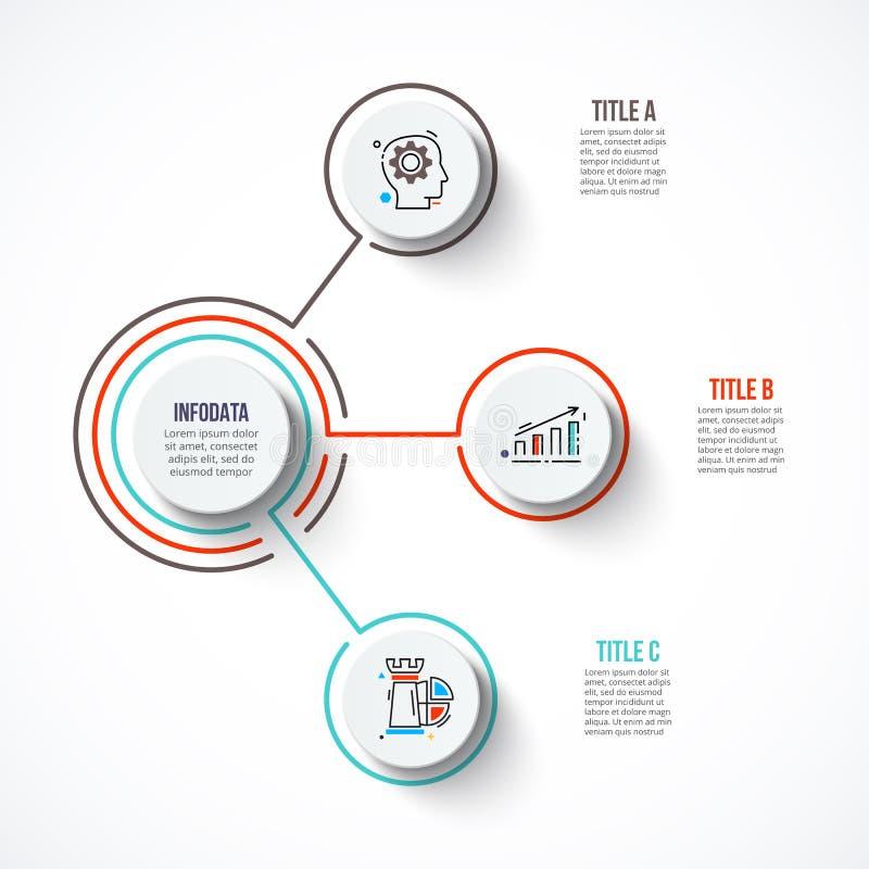 Molde abstrato das opções do número do infographics ilustração stock