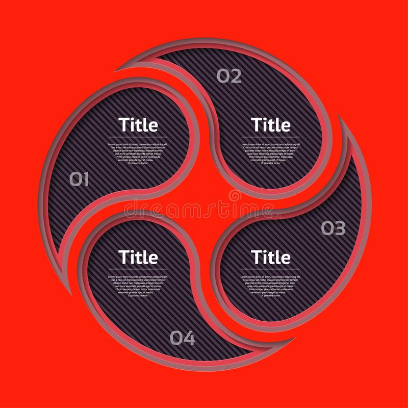 Molde abstrato das opções do número do infographics Ilustração do vetor pode ser usado para a disposição dos trabalhos, diagrama, ilustração royalty free