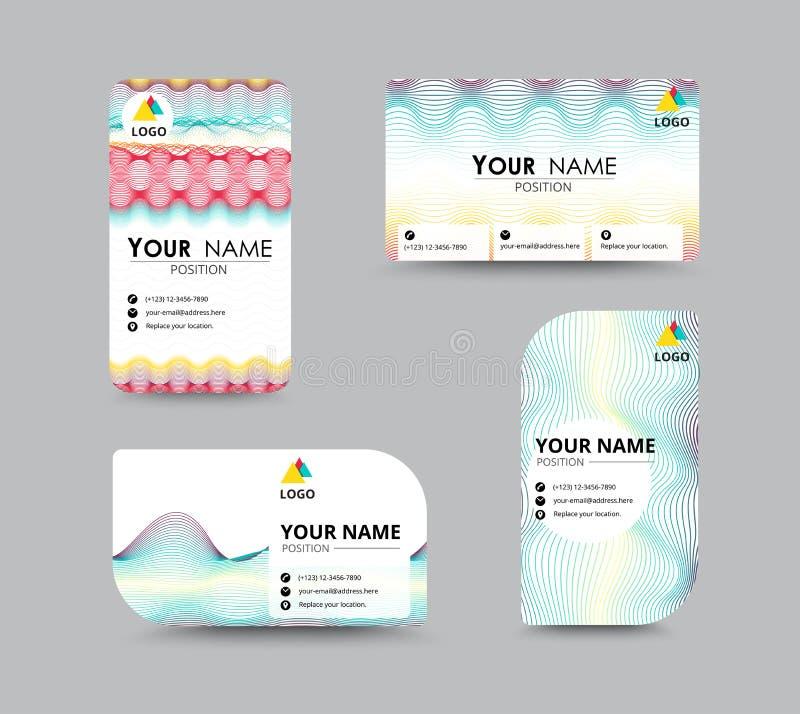 Molde abstrato do cartão com posição do nome da amostra cidade ilustração stock
