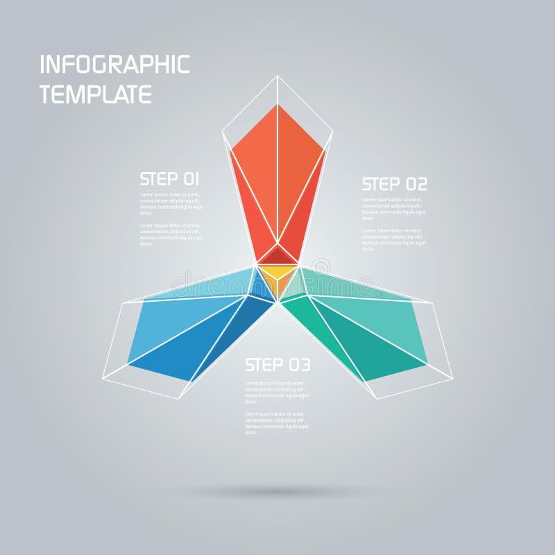 Molde abstrato do infographics com grande colorido ilustração stock