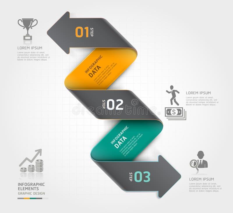 Molde abstrato do infographics da seta do negócio. ilustração do vetor