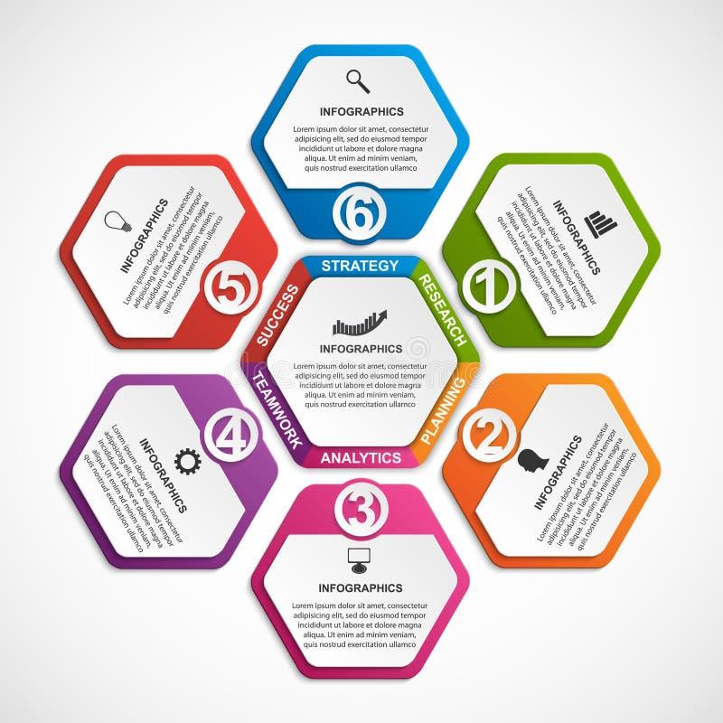 Molde abstrato do infographics das opções Infographics para a bandeira das apresentações ou da informação do negócio ilustração stock