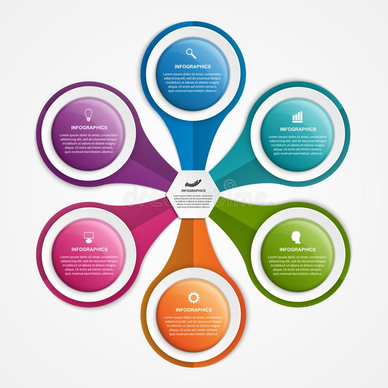 Molde abstrato do infographics das opções Pode ser usado para apresentações do negócio, bandeira da informação, ideia do visualiz ilustração do vetor