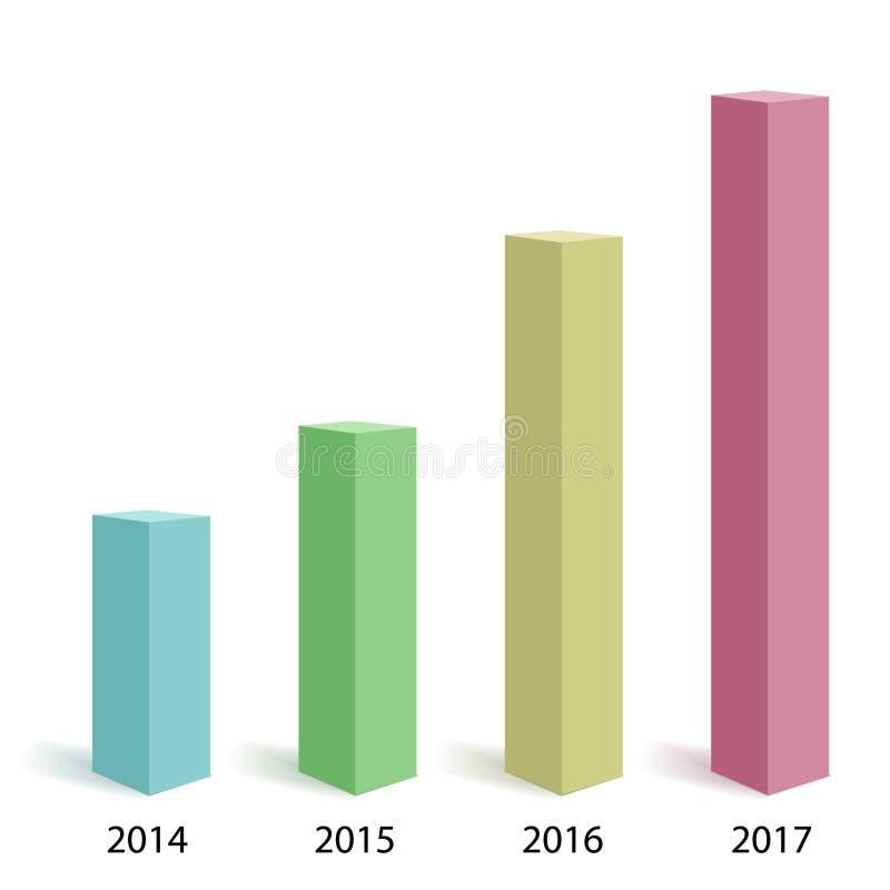 Molde abstrato do infographics Visualização dos dados comerciais ilustração do vetor