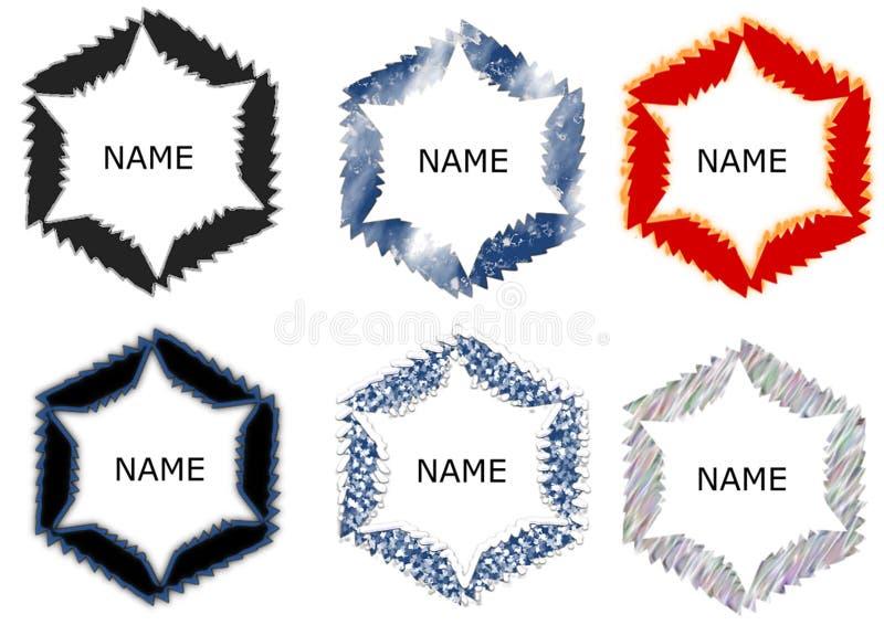 Molde abstrato do logotipo do círculo com testes padrões diferentes ilustração stock