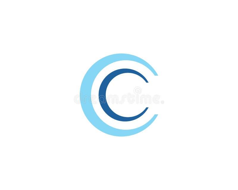 Molde abstrato do logotipo do c?rculo ilustração stock