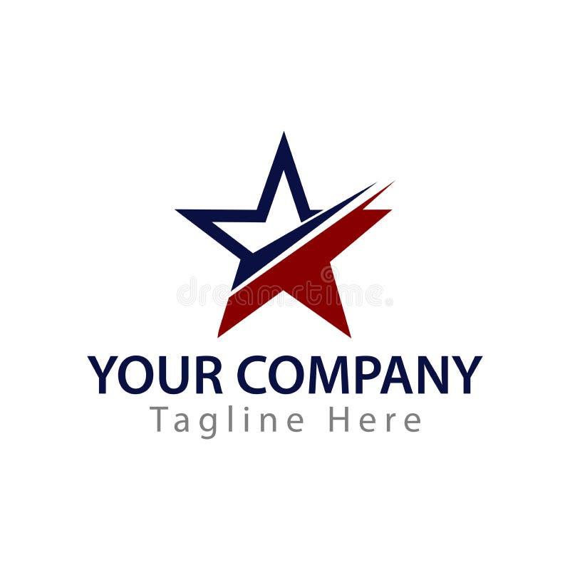 Molde abstrato do logotipo da estrela Elementos abstratos do molde do projeto do ícone do logotipo da estrela fotografia de stock royalty free