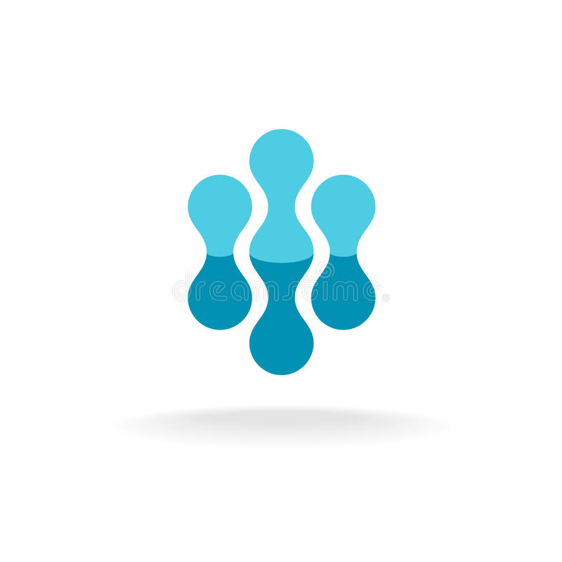 Molde abstrato do logotipo das estruturas moleculars ilustração stock