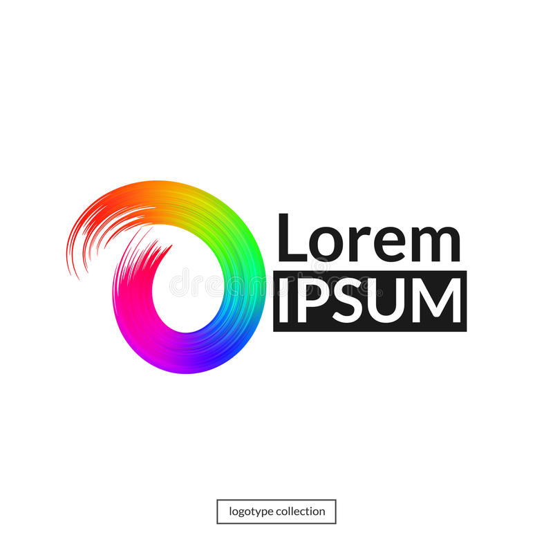 Molde abstrato do logotipo do arco-íris ilustração royalty free
