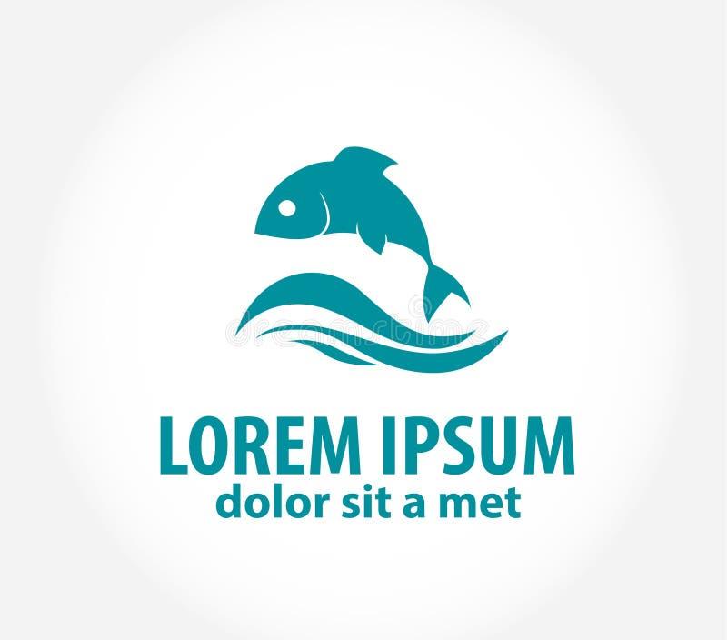 Molde abstrato do logotipo do projeto do vetor dos peixes ilustração do vetor