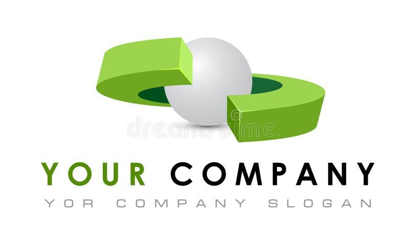 Molde abstrato do logotipo do vetor, robótica, cria ilustração stock