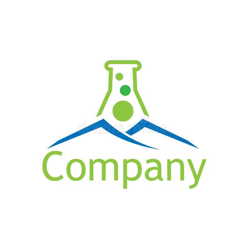 Molde abstrato do logotipo do laboratório e da casa Projeto liso ilustração stock