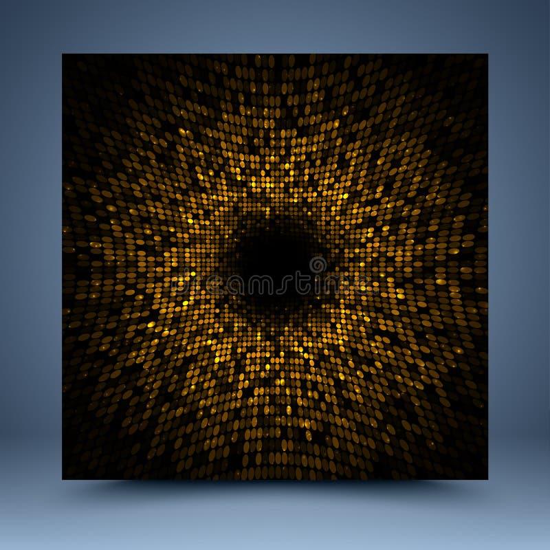 Molde abstrato do ouro ilustração do vetor