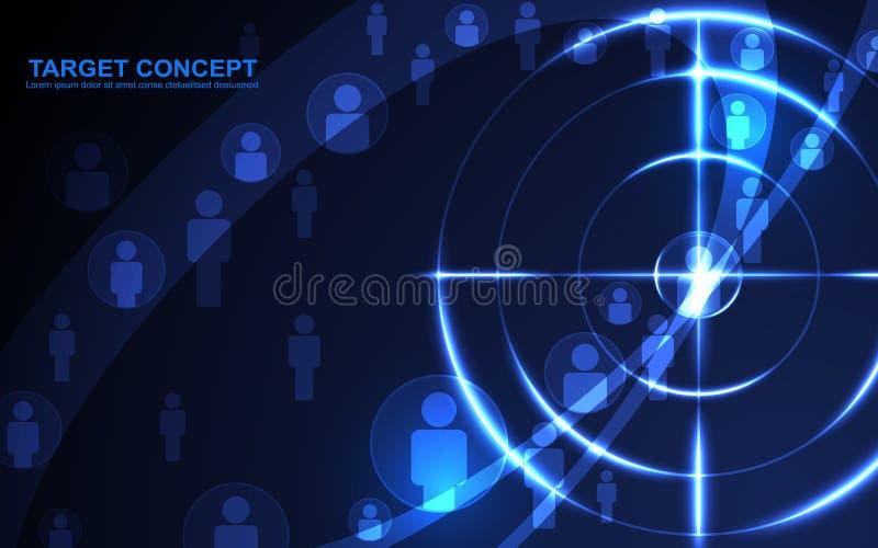 Molde abstrato do público-alvo do tiro, conceito futurista da tecnologia digital ilustração do vetor