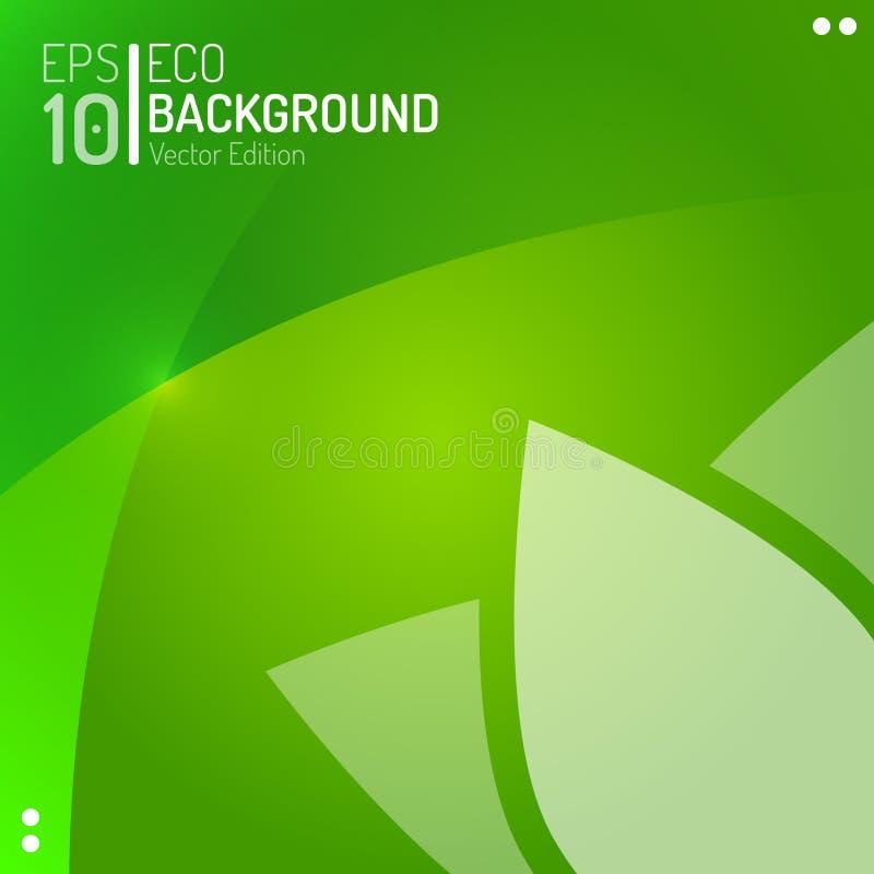 Molde abstrato do papel de parede de Eco Fundo da planta da folha da flor do verde do vetor EPS10 ilustração do vetor