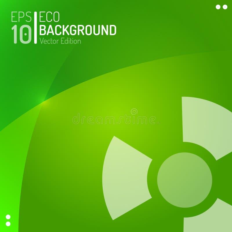 Molde abstrato do papel de parede de Eco Fundo radioativo do perigo da natureza do verde do vetor EPS10 ilustração royalty free