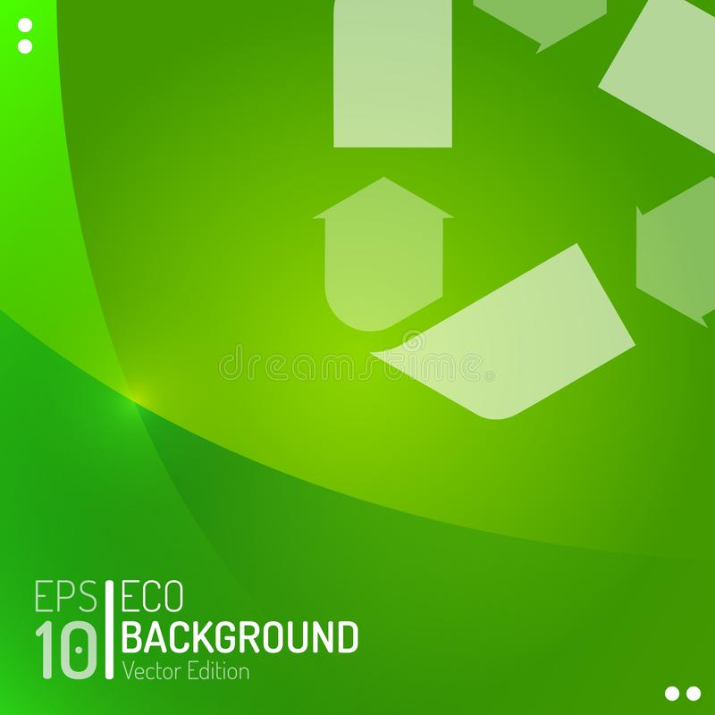 Molde abstrato do papel de parede de Eco O verde do vetor recicla o fundo do lixo do alimento EPS10 ilustração royalty free