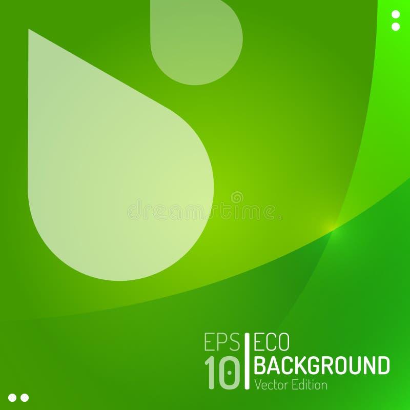 Molde abstrato do papel de parede de Eco Pingo de chuva da condensação do verde do vetor que inunda o fundo EPS10 ilustração stock