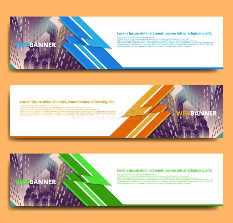 Molde abstrato do projeto da bandeira da Web ilustração royalty free